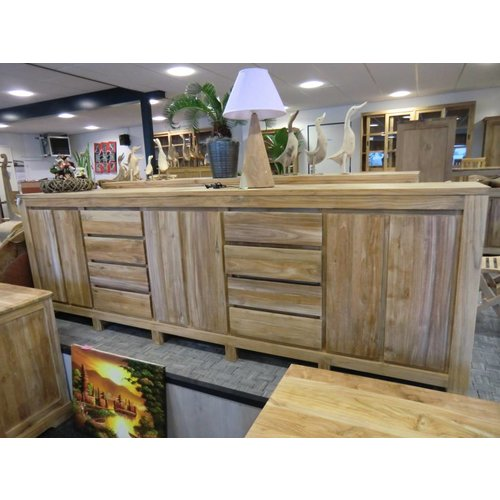 Decomeubel Dressoir 8 Laden, 6 Draaideuren