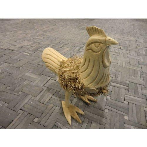 Houten beeld - Kip