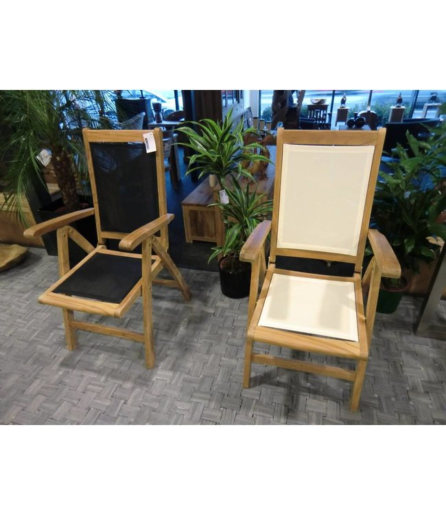 Reclining chair with Textylene seat