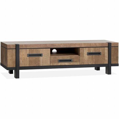 Lamulux TV Cabinet Binck - Lamulux Old Teak - 2 Türen, 1 Schublade, 1 offenes Fach
