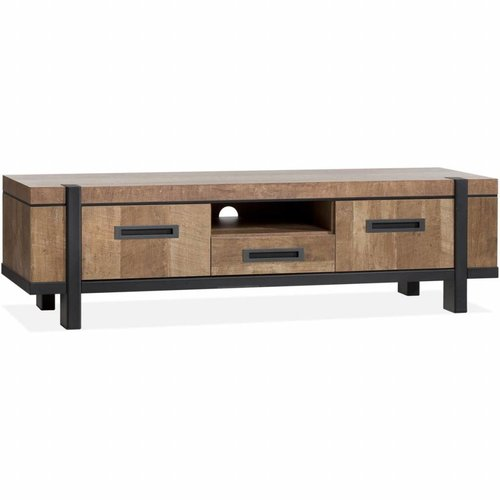 Lamulux TV Cabinet Binck - Lamulux ​​Old Teak - 2 doors, 1 drawer, 1 open compartment