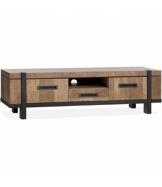Lamulux TV Cabinet Binck - Lamulux Old Teak - 2 doors, 1 drawer, 1 open compartment