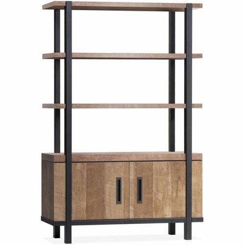 Lamulux Wall cabinet Binck - Lamulux Old Teak - 2 doors, 3 open compartments