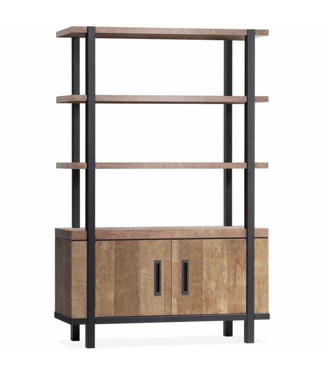 Lamulux Wall cupboard Binck - Lamulux Old Teak - 2 doors, 3 open compartments