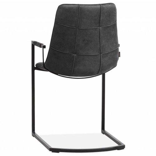 MX Sofa Stuhl Condor mit Armlehne und freischwingendem Unterwagen in der Farbe Anthrazit