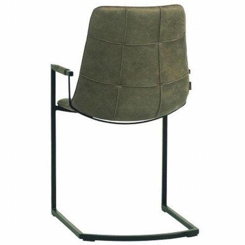 MX Sofa Stuhl Condor mit Armlehne und Freeswing-Gestell in der Farbe Olive