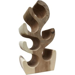 Solid wooden wine rack for 6 bottles