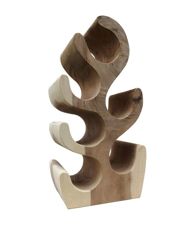 Eastfurn Solid wooden wine rack for 6 bottles