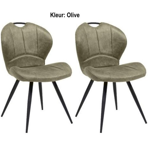MX Sofa Dining chair Miracle color: Olive