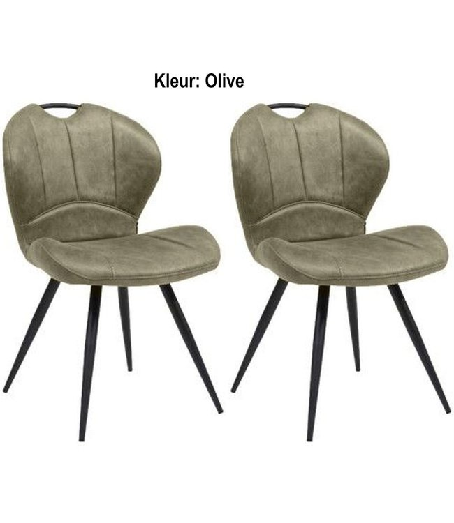MX Sofa Dining room chair Miracle - Olive (set of 2 pieces)