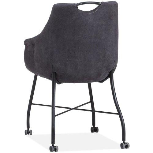 MX Sofa Stuhl Promise mit Rädern, Metallbasis