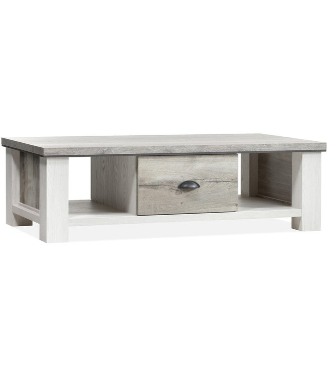 Lamulux Coffee table DENZEL 1 drawer, 2 open compartments