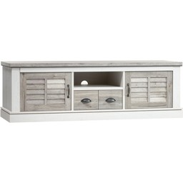 Lamulux TV cabinet DENZEL 2 doors, 1 drawer, 1 open compartment