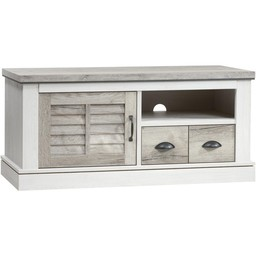 Lamulux TV cabinet DENZEL 1 door, 1 drawer, 1 open compartment