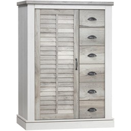 Lamulux DENZEL bacon cabinet 1 door, 6 drawers
