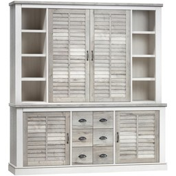 Lamulux Buffet cabinet DENZEL 4 doors, 3 drawers, 8 open compartments