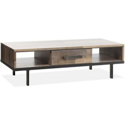 Lamulux Coffee table FLAIR 1 drawer, 2 open compartments
