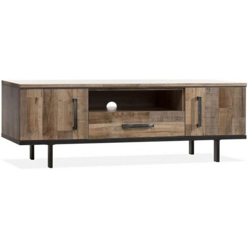 Lamulux TV Cabinet FLAIR 2 doors, 1 drawer, 1 open compartment