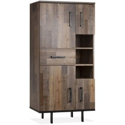 Lamulux FLAIR carcase 4 doors, 1 drawer, 3 open compartments