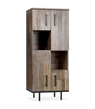 Lamulux Side cupboard FLAIR 4 doors, 2 open compartments