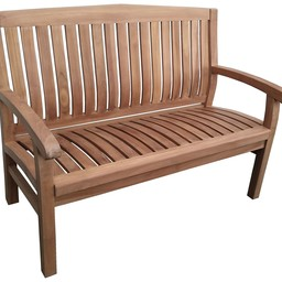 Decomeubel Kingston teak garden bench 120 cm