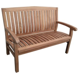 Decomeubel Kingston teak garden bench 120 cm