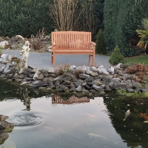 Decomeubel Kingston teak garden bench 120cm