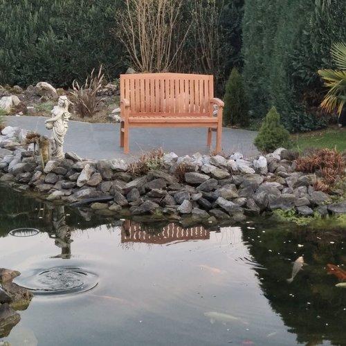 Decomeubel Kingston teak garden bench 150 cm