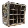 Decomeubel DecoMeubel Rattan wine rack for 16 (wine) bottles