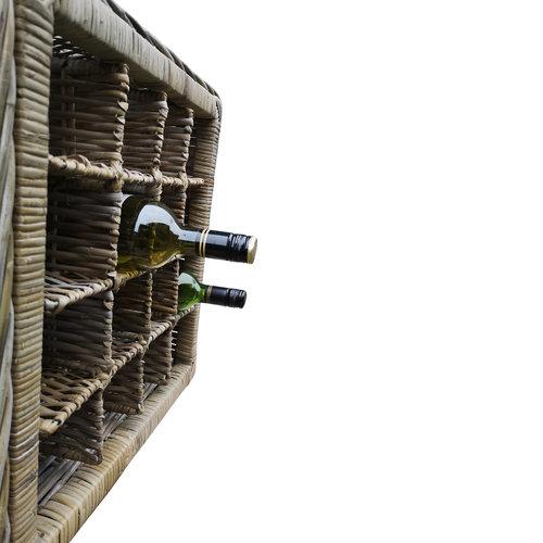 Decomeubel Rotan wijnrek voor 16 (wijn)flessen