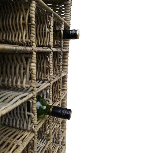 Decomeubel Rotan wijnrek voor 28 (wijn)flessen
