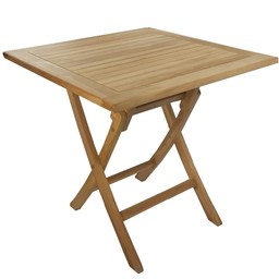 Decomeubel TEAK folding garden table square 80 x 80 cm