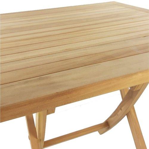 Decomeubel TEAK folding garden table square 80 x 80 cm
