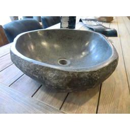 Wash basin riverstone