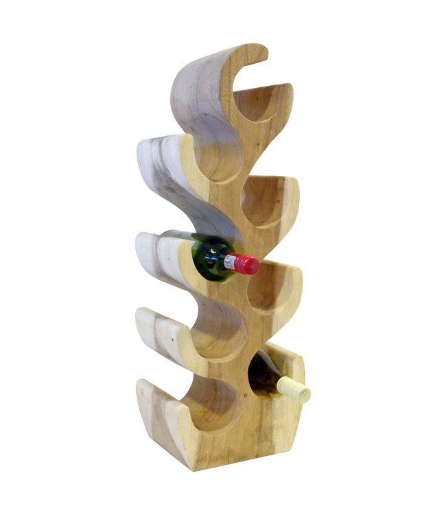 Eastfurn Solid wooden wine rack for 8 bottles