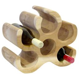 """Solid wooden wine rack """"Mahkota"""" 6 bottles"""