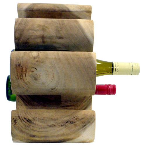 "Eastfurn Solid wood wine rack ""Mahkota"" for 6 bottles"