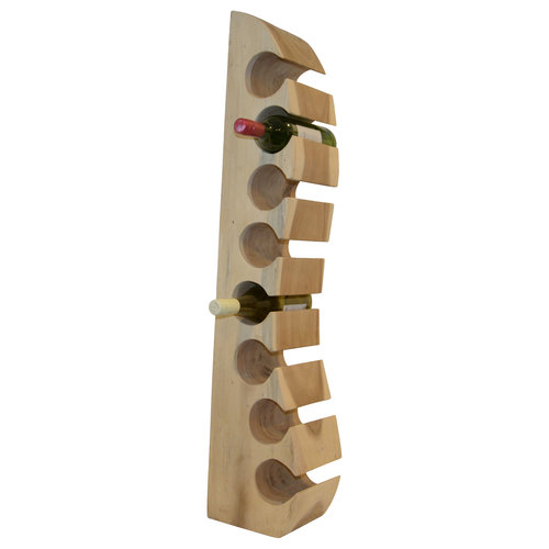 """Solid wood wine rack """"Wall"""" for 8 bottles"""