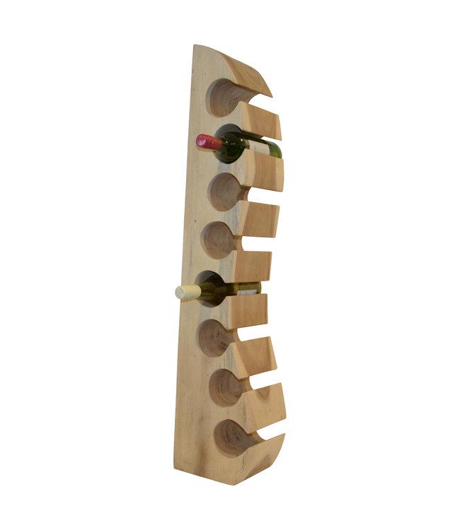 """Eastfurn Massief houten wijnrek """"Wall"""" voor 8 flessen"""