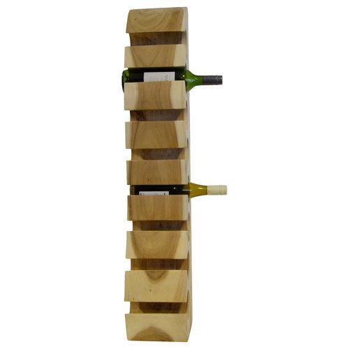 """Massief houten wijnrek """"Wall"""" voor 8 flessen"""