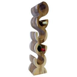 """Eastfurn Solid wood wine rack """"S"""" 5 bottles"""