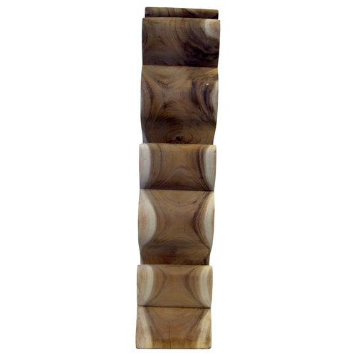 """Massief houten wijnrek """"S"""" 5 flessen"""