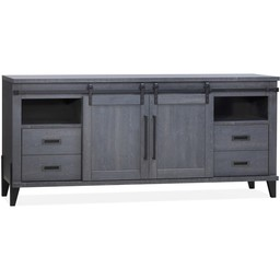 Lamulux Sideboard Space 2 sliding doors, 4 drawers, 2 open compartments