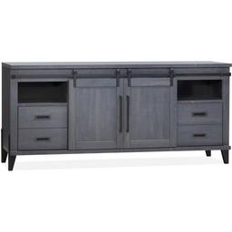 Lamulux Sideboard Space 2 Schiebetüren, 4 Schubladen, 2 offene Fächer