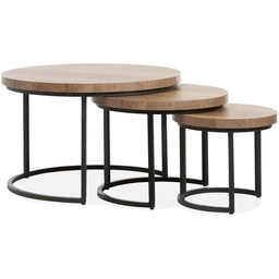 Lamulux Coffee table Hugo (set of 3 tables)