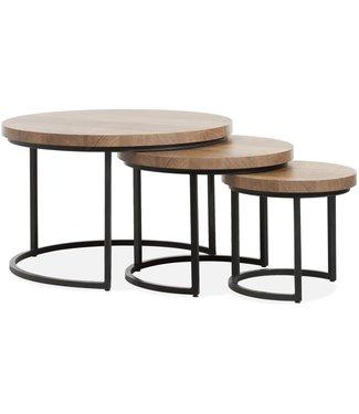 Lamulux Coffee table Hugo (set of 3 tables)