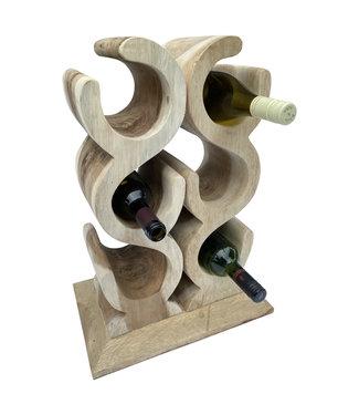 Eastfurn Wine rack LOVE for 6 wine bottles