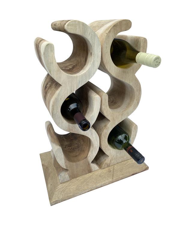 Eastfurn Weinregal LIEBE für 6 Weinflaschen
