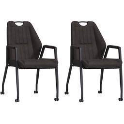 MX Sofa MX Sofa Chair Axa - color Anthracite (set of 2 pieces)