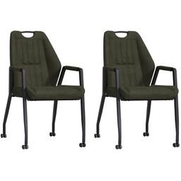 MX Sofa MX Sofa Chair Axa - color Moss (set of 2 pieces)